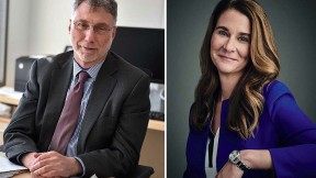 Photographs of Harvard and Radcliffe would-be honorands Martin Baron and Melinda Gates