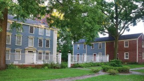View of the Royall House and the slave quarters.
