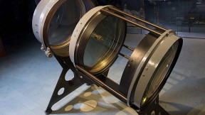 The lenses of the Bruce telescope mounted for display