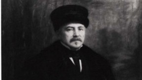 Painting of Amos A. Lawrence, 1887, by Eastman Johnson.