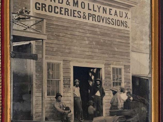Photograph of California Gold Rush-era storefront