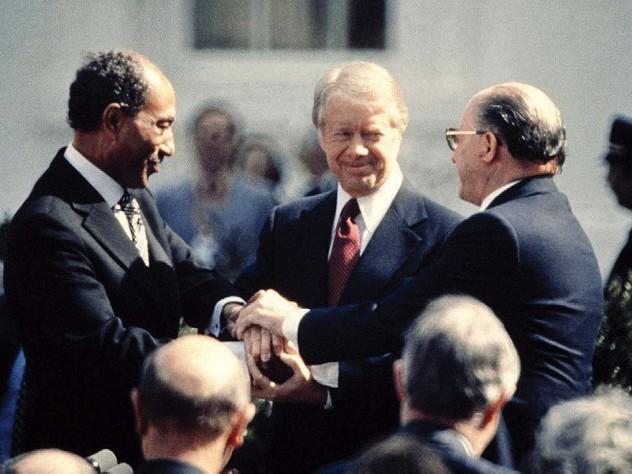 Jimmy Carter, Anwar el-Sadat and Menachem Begin, March 26, 1979, the White House