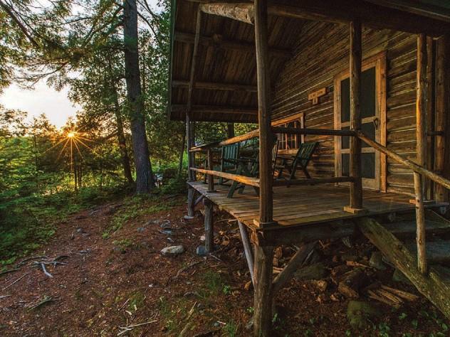 Maine wilderness cabin