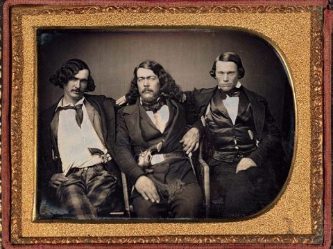 Circa 1853 photograph of Lawman Captain Harry Love and two of his California Rangers, the state's first law-enforcement agency