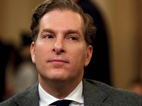 Photograph of Professor Noah Feldman at House impeachment hearings, December 4, 2019