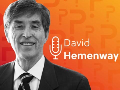 A black and white portrait of David Hemenway