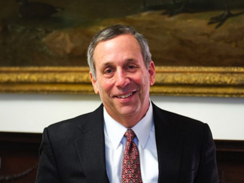 Portrait of Harvard President Lawrence S. Bacow