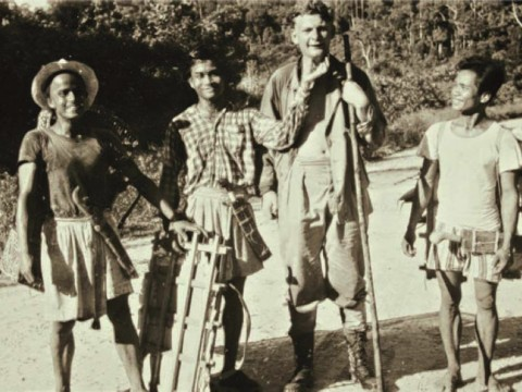 Photograph of Peter Ashton and field team in Borneo